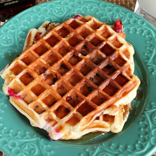 Cranberry Greek Yogurt Waffles