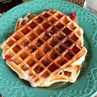 Cranberry Greek Yogurt Waffles.