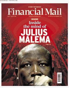 Three of the Financial Mail covers win the Standard Bank Sikuvile design award. Picture: SUPPLIED