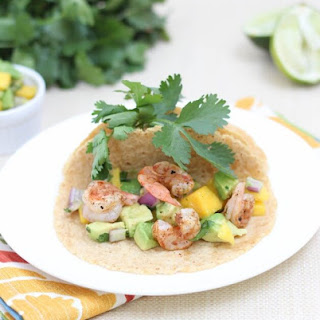 Shrimp Tacos with Mango Avocado Salsa
