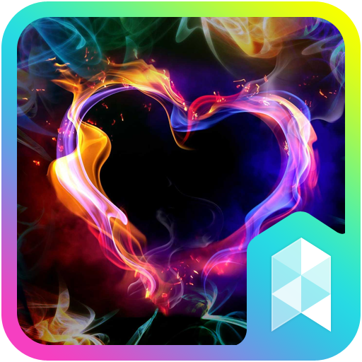 Colorful Heart Launcher theme