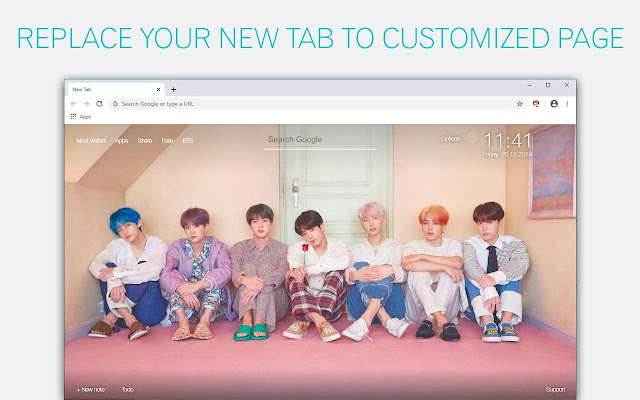 Bangtan Boys Wallpapers Hd Bts Members Newtab