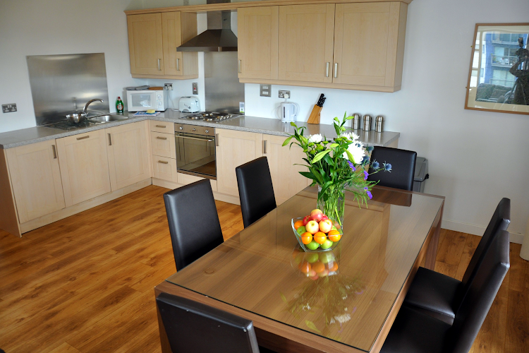 Fully equipped kitchen at Ocean Serviced Apartments
