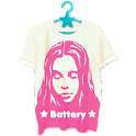 X-girl T-shirt Battery-Free icon