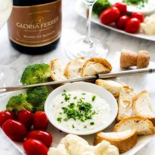 Goat Cheese & Gruyere Fondue.