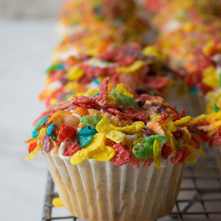 Fruity Pebbles Cupcakes.