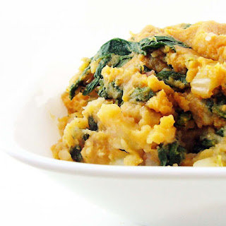 Pumpkin Mashed Potatoes with Fennel and Spinach Recipe