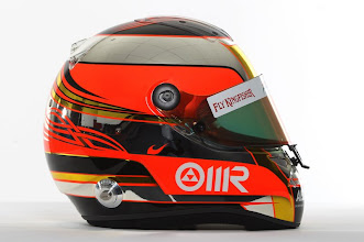Photo: The helmet of Jules Bianchi (FRA) - Sahara Force India Formula One Team - Driver Studio Photoshoot - Silverstone, UK, 02.02.2012 -  Sahara Force India Formula One Team Copyright Free Image