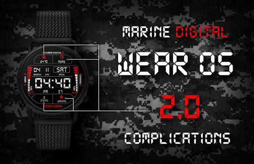 Marine Digital 2 Watch Face & Clock Live Wallpaper 1.07 screenshots 4