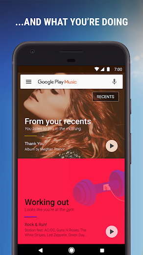 Screenshot 1 for Google Music's Android app'