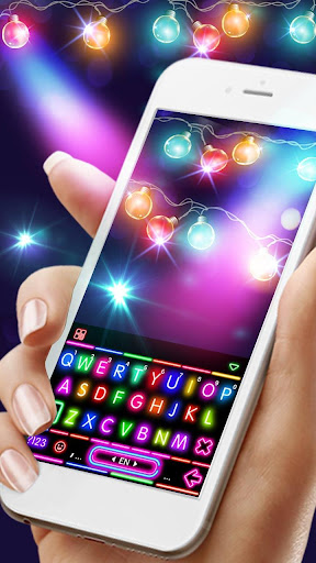 Sparkle Neon Lights Keyboard Theme 1.0 screenshots 2