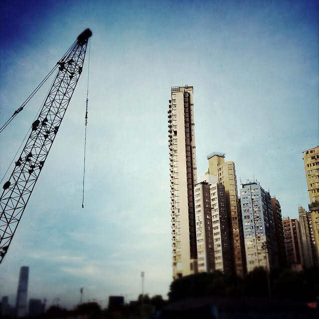 Building, Hong Kong,  香港, 大廈, skyscrapers, building crane