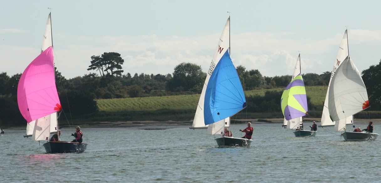 Wayfarer sailing at Waldringfield