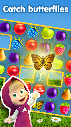 Masha and The Bear Jam Day Match 3 games for kids 1.4.47 screenshots 4