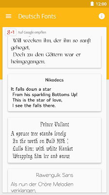 Deutsch Fonts für FlipFont - screenshot