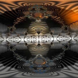 On Earth; As It Is In Heaven by Rick Eskridge - Illustration Sci Fi & Fantasy ( fantasy, earth, mb3d, fractal, twisted brush )
