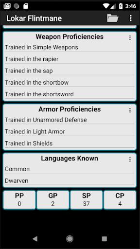 Second Edition Character Sheet 0.97f screenshots 7
