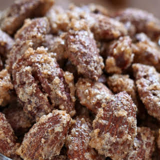 Cinnamon Sugar Glazed Almonds.