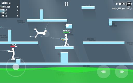 Stickman Battles: Online Shooter  captures d'écran 1