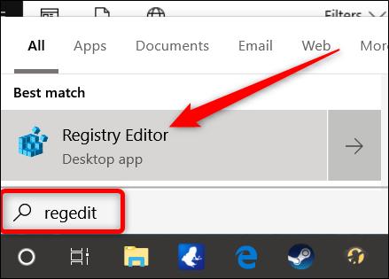 Windows 10 Registry Editor