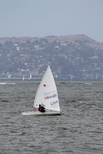 Photo: We spot Jeff's friend Charles Thomas (Chuck) out on the bay battling the waves and cheer him on.