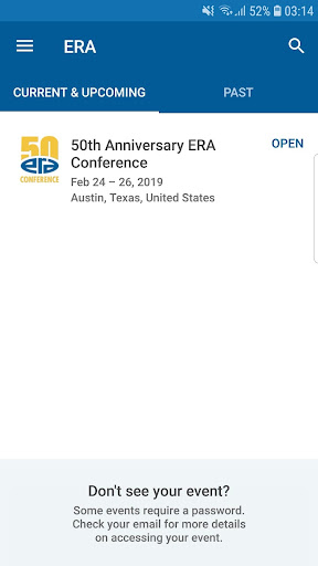 Screenshot for ERA Conference in United States Play Store