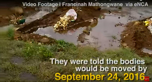 Relative describes horror of finding loved ones' graves in 'floating cemetery'