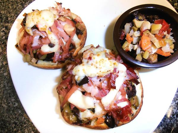 Mini Muffuletta Pizza Sammies Recipe