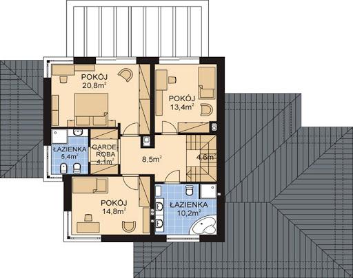 APS 300+2G - Rzut piętra