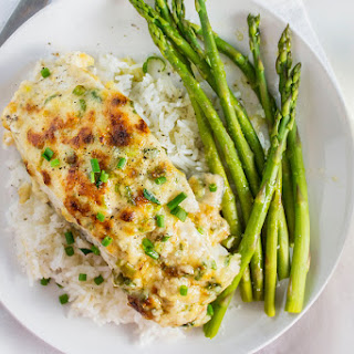 Garlic Parmesan Baked Halibut.