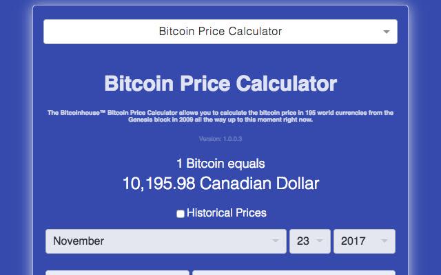Historical Bitcoin Price Calculator