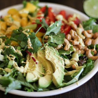 Thai Salad with Curry Coconut Dressing.