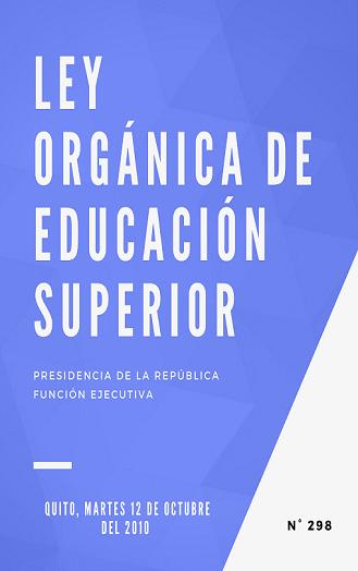 Ley Organica de Educación Superior