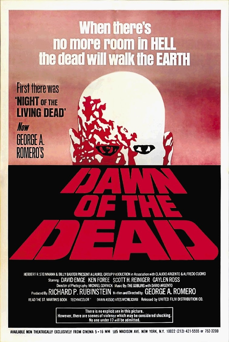The poster for George A Romero's 1978 film.