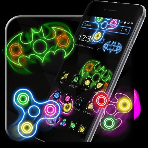 Neon Fidget Spinner Cool Theme
