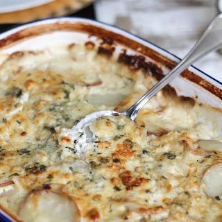 Blue Cheese Potatoes Au Gratin.