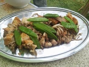 Photo: 厚揚げと舞茸のビネガー炒め