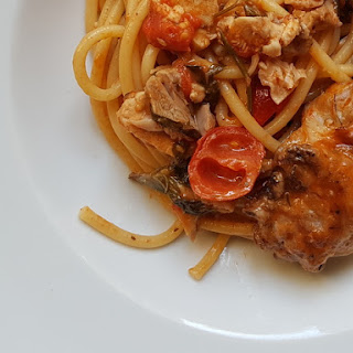 Bucatini Pasta with Rabbit.