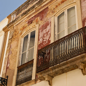 Balcony by Steve Weston - Landscapes Travel ( light.town, window, portugal, rustic, balcony )