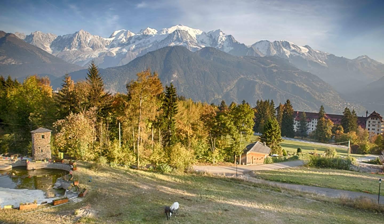 Chalet avec vue panoramique et terrasse Passy