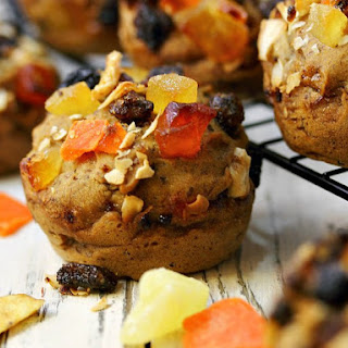 Banana Bread Tropical Trail Mix Muffins
