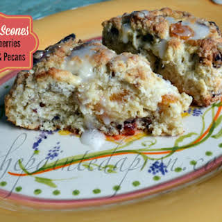 Vanilla Scones with Cranberries, Apricots and Pecans.