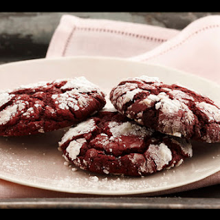 Red Velvet Crinkle Cookies.