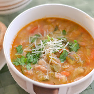 Minestrone Soup with Bacon and Kale.