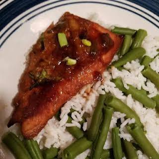Marmalade Teriyaki Glazed Salmon.