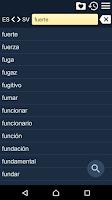 Screenshot of Spanish Swedish Dictionary Fr