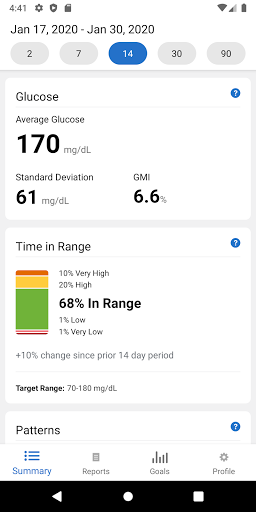Dexcom CLARITY-Screenshots 1