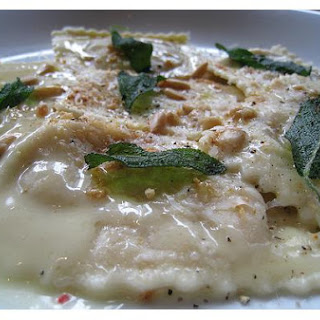 Porcini Ravioli With Sage Brown Butter
