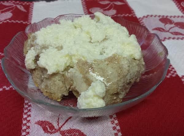 Mmmmm ... Warm Bread Pudding With Hard Sauce.