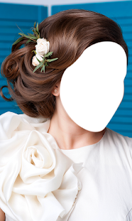 Bridal Hairstyle Photo Montage- screenshot thumbnail